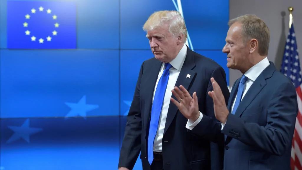 特朗普访欧盟 图斯克:双方对俄立场不一