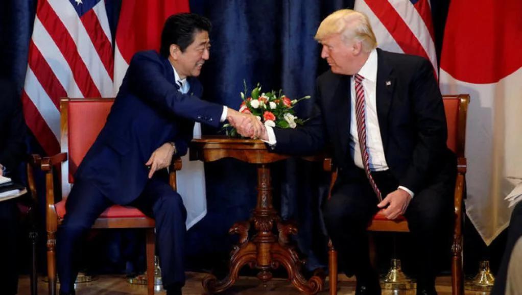 特朗普和安倍商定扩大对朝鲜制裁