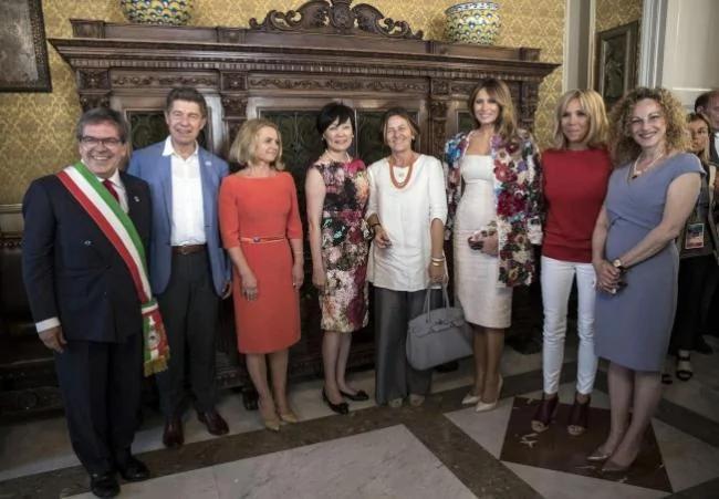 G7第一夫人吸睛 梅兰妮亚艳冠群芳