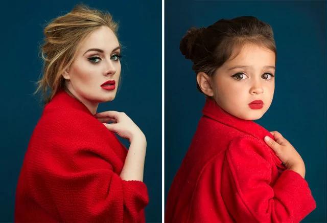 3岁女孩模仿大明星拍照 背后原因令人感动