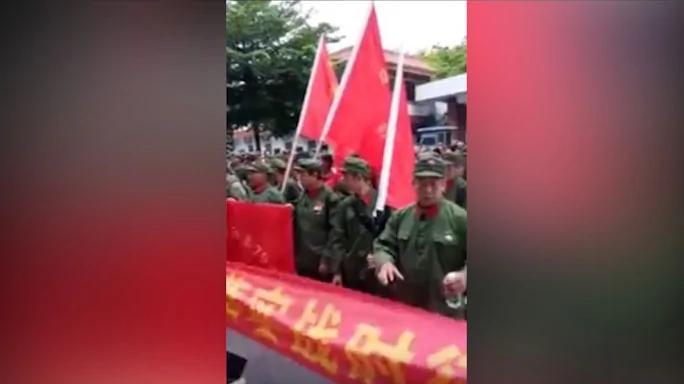 广西数百老兵集体上访无果 赴京维权遭围追堵截