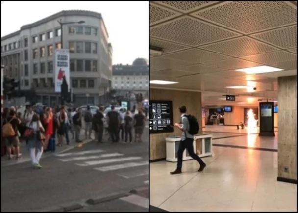 布鲁塞尔中央火车站爆炸 一疑犯中枪
