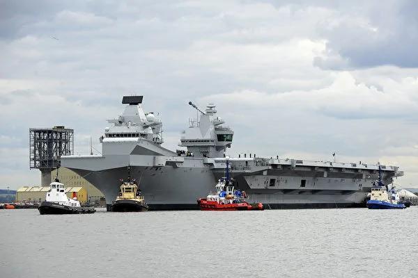 英國史上最大航母「伊麗莎白女王號」試航