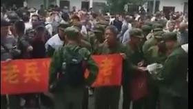广西近千老兵围自治区政府 安徽数百进藏兵省府维权
