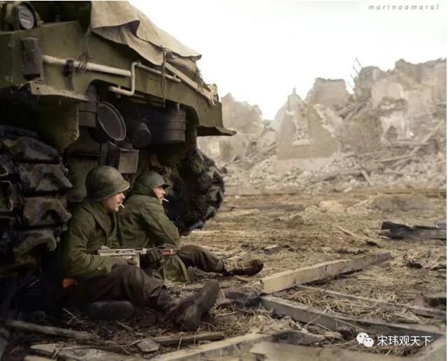 罕见的彩色二战照片 回忆重要历史瞬间