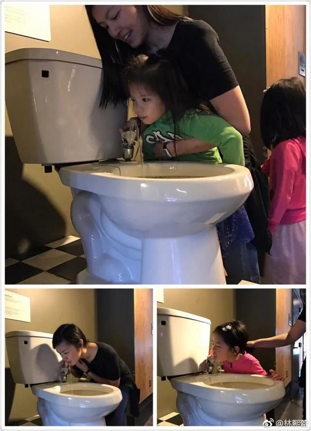 林熙蕾竟然带女儿喝马桶水 画面太美不敢看