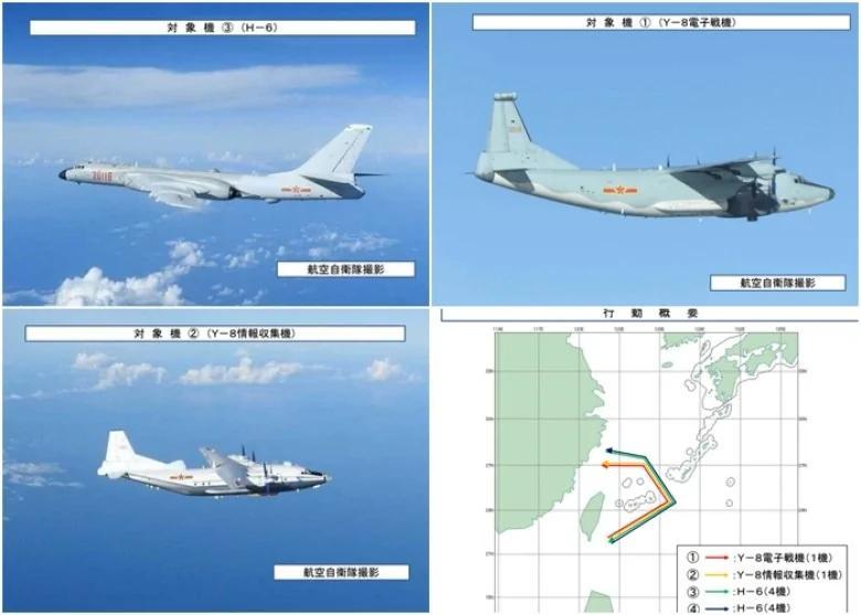 日防卫省:共军10军机绕台穿越宫古海峡