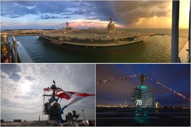 美军新航母福特号周六服役 提升自动化