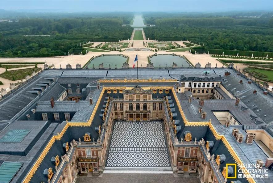 一组法国凡尔赛宫的内部画面