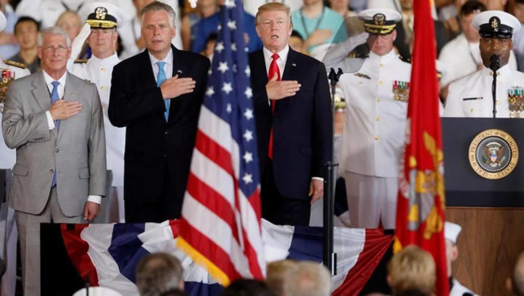 特朗普主持新航母福特号正式服役仪式