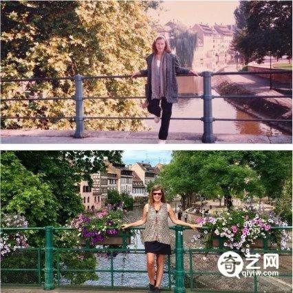 30年后她在相同地点拍照见证变迁