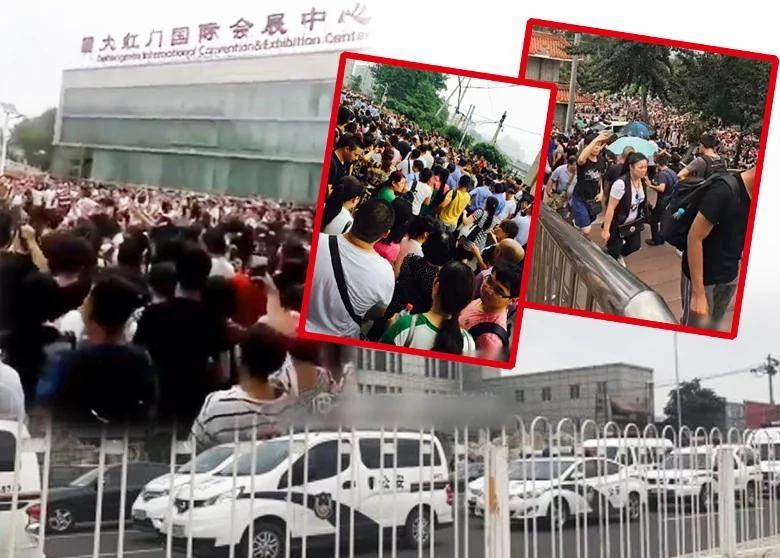 64之后 天安门广场首现大规模请愿抗议