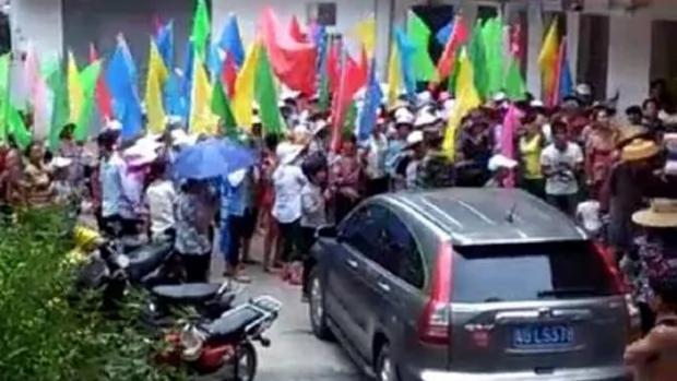 广东逾万村民反建发电站 千警打人镇压拘逾30人