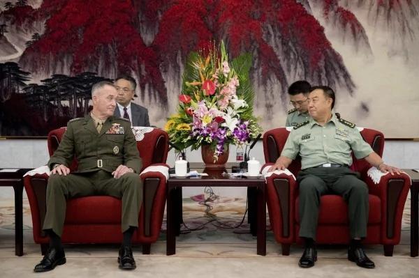 美军参联会主席访中会谈 坦诚双方有许多难解问题