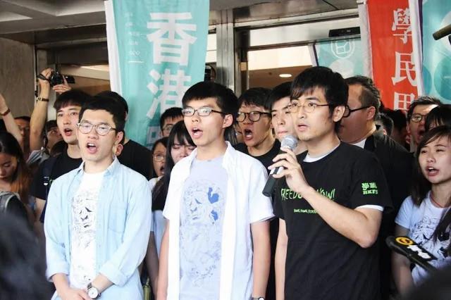 香港「占中」运动3代表被判入狱 黄之锋:即使坐牢也不放弃