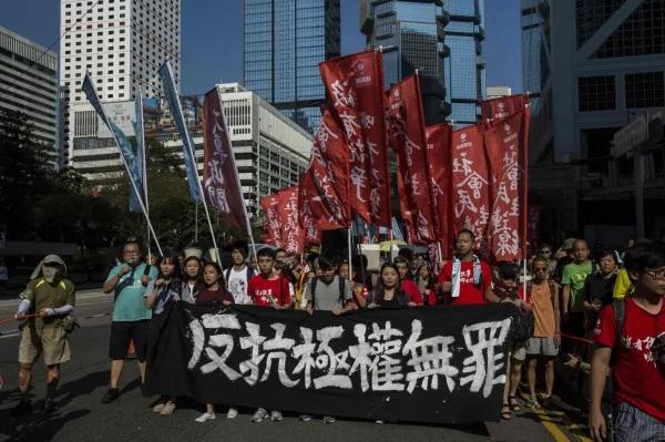 雨傘運動後最大集會 14萬港人力挺政治犯