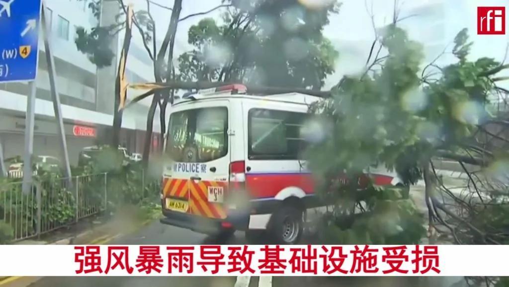 強颱風天鴿肆虐:香港街頭一片狼藉【視頻】