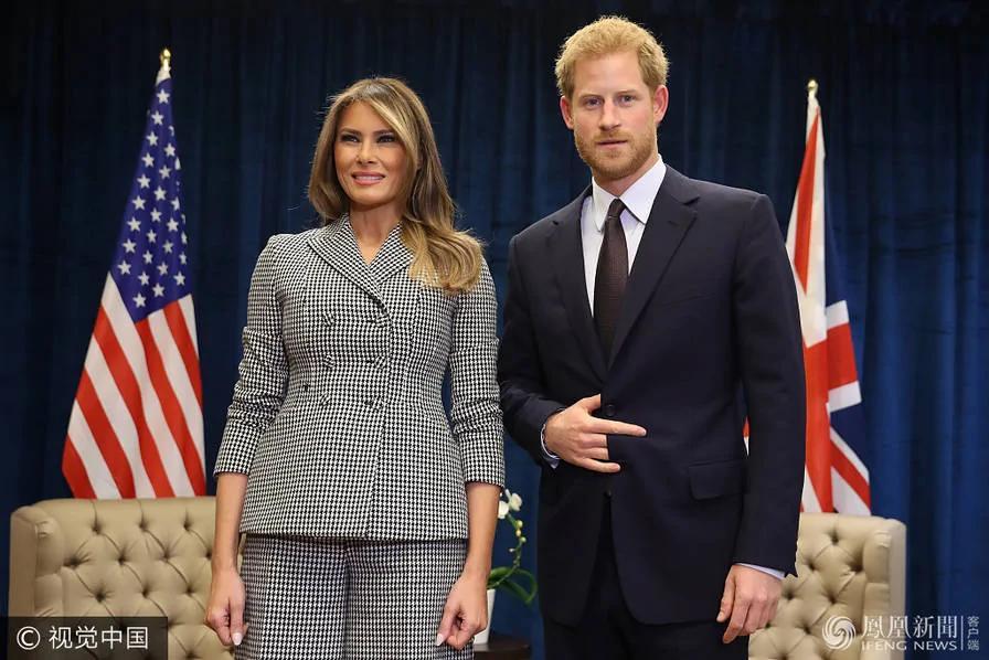 哈里王子会见美国第一夫人…这手势几个意思?