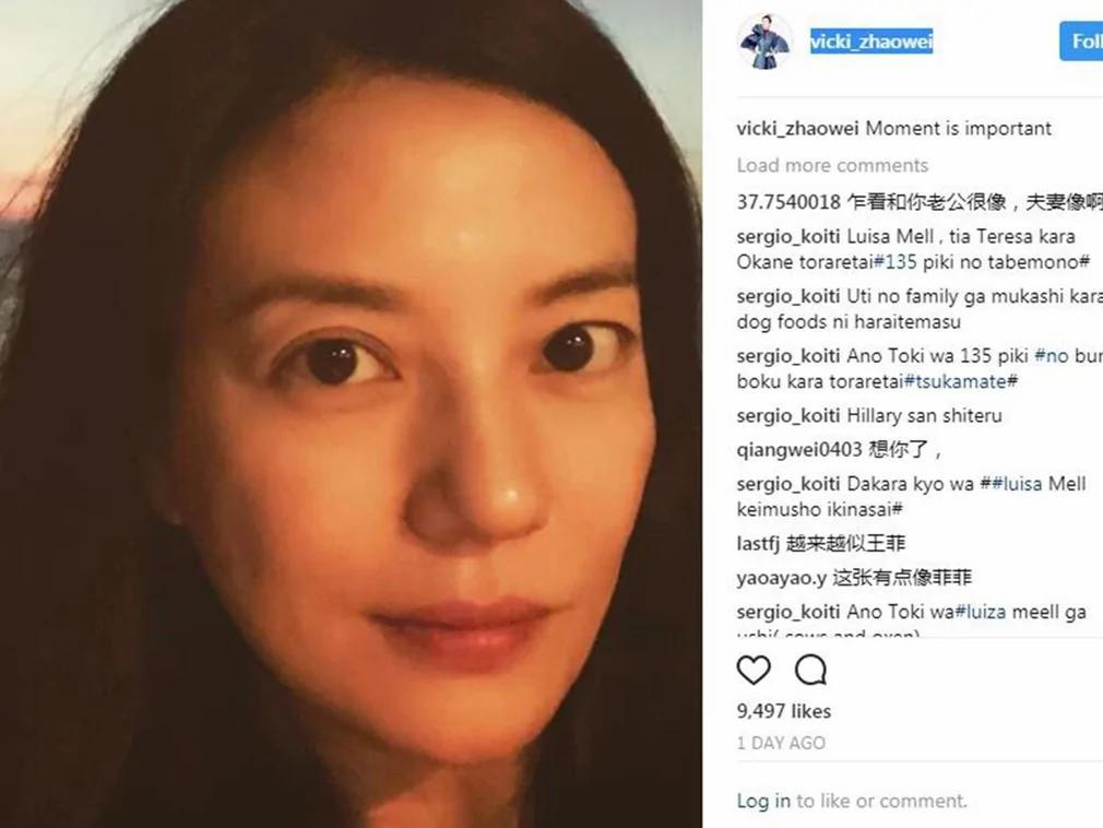 赵薇在海外社交媒体发文(图源:Instagram vicki_zhaowei)