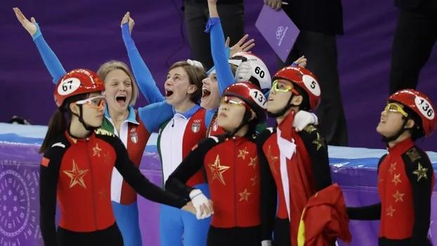 奥运金牌梦断 中国女子接力速滑被判犯规
