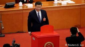 習無限期連任新時代來了 江留任 98 張反對 122 張棄權