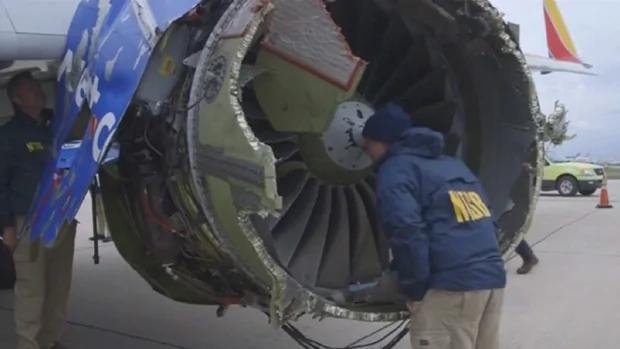 西南航空客机疑引擎爆炸 女乘客险吸出机外惟终不治