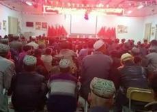 2018年4月3日,新疆阿克苏地区一边远地区的村民也被要求集体观看《厉害了 我的国》。(阿克苏地区农业局发布)