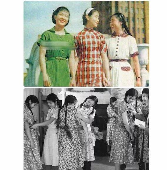 【文革老照片】江青亲自参与设计并引领文革女装潮流的连衣裙(图集)